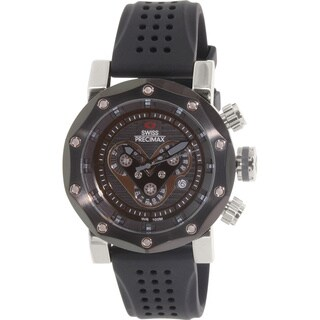 Swiss Precimax Men's 'Vector Pro Sport' Black/ Grey Swiss Chronograph Watch