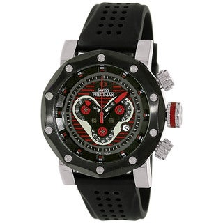 Swiss Precimax Men's 'Vector Pro Sport' Black/ Red Swiss Chronograph Watch