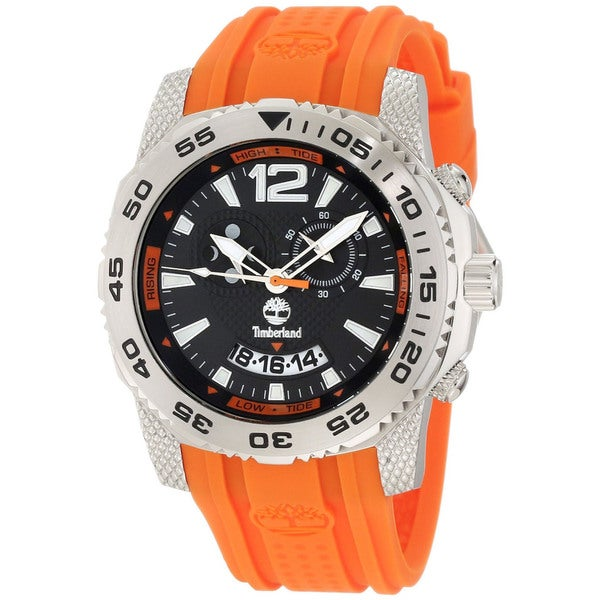 Timberland Men's 'Hydroclimb' Orange Moon/ Tide Phase Watch