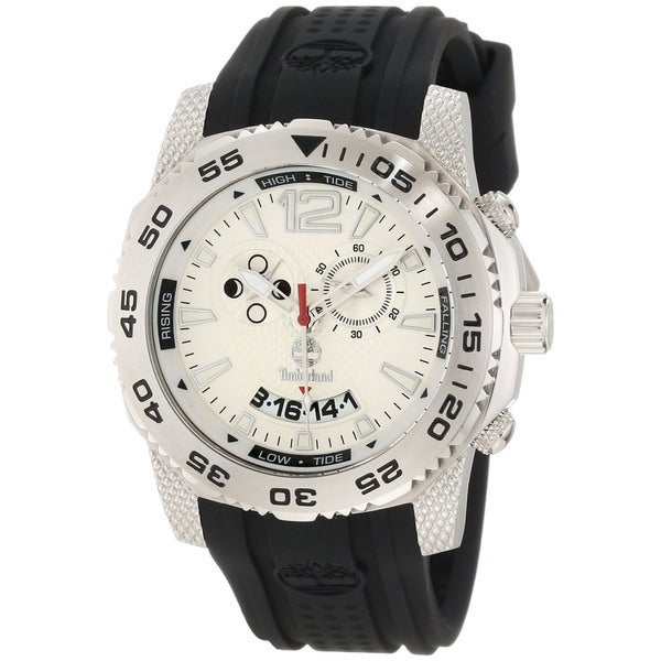 Timberland Men's 'Hydroclimb' Black/ Silver Moon/ Tide Phase Watch