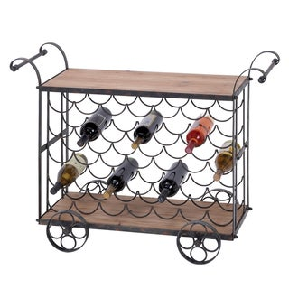 Casa Cortes Vintage 35-bottle Wine Bottle Cart