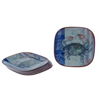 Certified International Blue Crab 8.5-inch Plates (Set of 6)