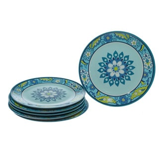 Certified International Capri Blue 11-inch Plates (Set of 6)