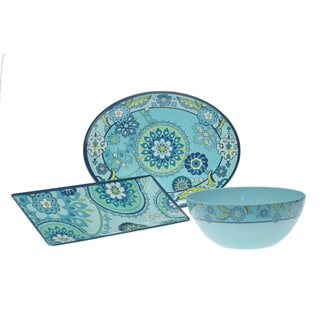 Certified International Capri Blue 3-piece Serving Set