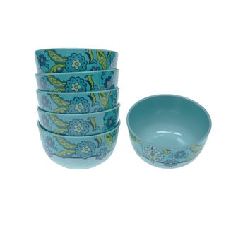 Certified International Capri Blue 6-inch Bowls (Set of 6)