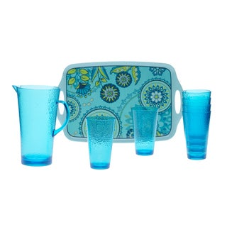 Certified International Capri Blue 8-piece Serving Set