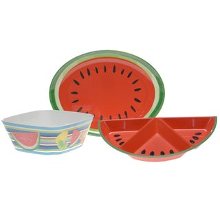 Certified International Fruit Splash 3-piece Serving Set