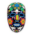 Handcrafted Beadwork 'Marra Rrurabe' Huichol Mask (Mexico)
