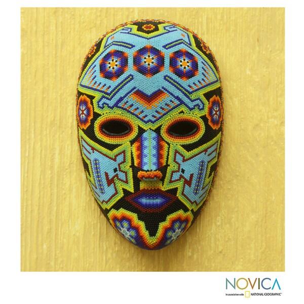 Beadwork Mask 'Blue Eagle' (Mexico)