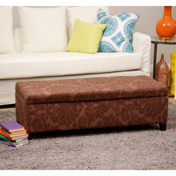 Bolbolac Flower Fabric Button-top Storage Bench/ Ottoman 10834428