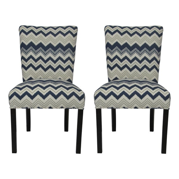 Barcelona Zazzle Rollerback Dining Chairs (Set of 2)