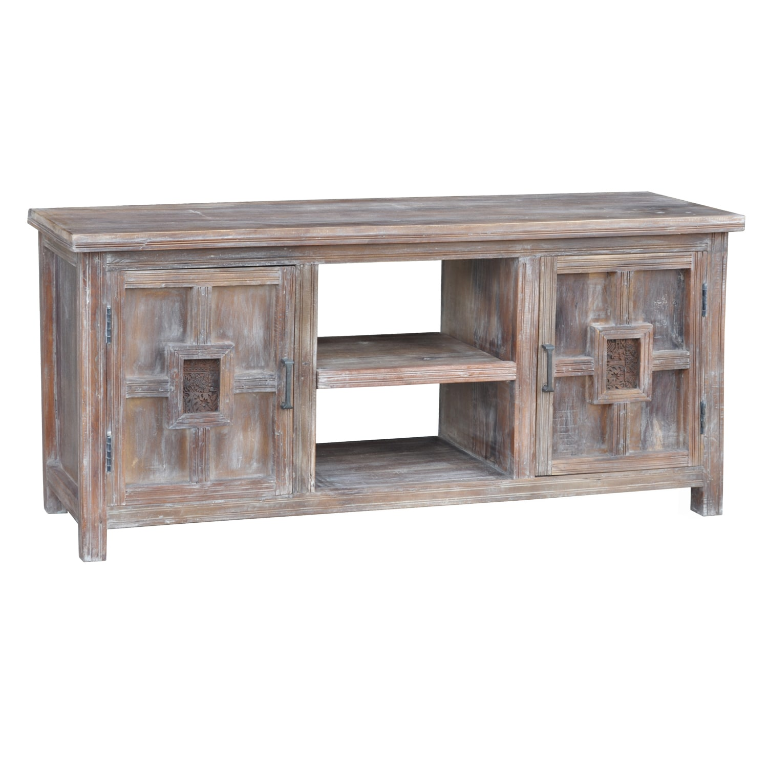 Kosas Collections Barton Lime Wash Acacia Wood TV Stand at Sears.com