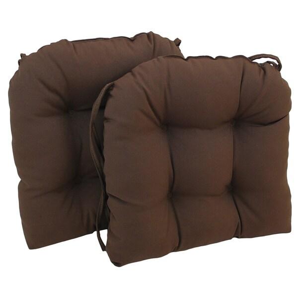 Blazing needles 16 in u shaped twill dining chair cushions for U shaped dining room chair cushions