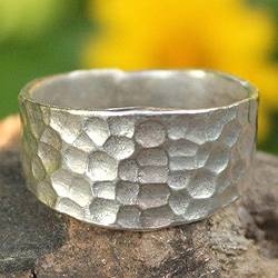 Sterling Silver 'Bangkok Moonlight' Ring (Thailand)