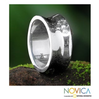 Sterling Silver Men's 'Love Testimonial' Ring (Indonesia)