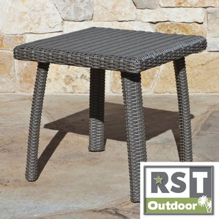 RST Outdoor Weathered Grey Bungalow Side Table
