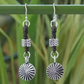 Handcrafted Silver 'Urban Sunrise' Earrings (Thailand)