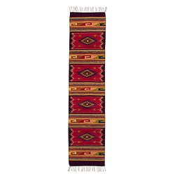 Handcrafted Wool 'Teotitlan Sunset' Runner (1'5 x 6'5) (Mexico)