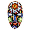 Handcrafted Beadwork 'Dance of the Deer' Huichol Mask (Mexico)