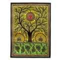 Madhubani 'Tree of Life' Folk Art Painting (India)