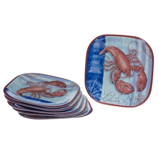 Certified International Lobster 10.5-inch Plates (Set of 6)
