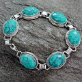 Sterling Silver 'Lightning in the Sky' Magnesite Bracelet (India)
