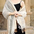 Handcrafted Cotton and Silk 'Burhanpur Extravaganza' Shawl (India)