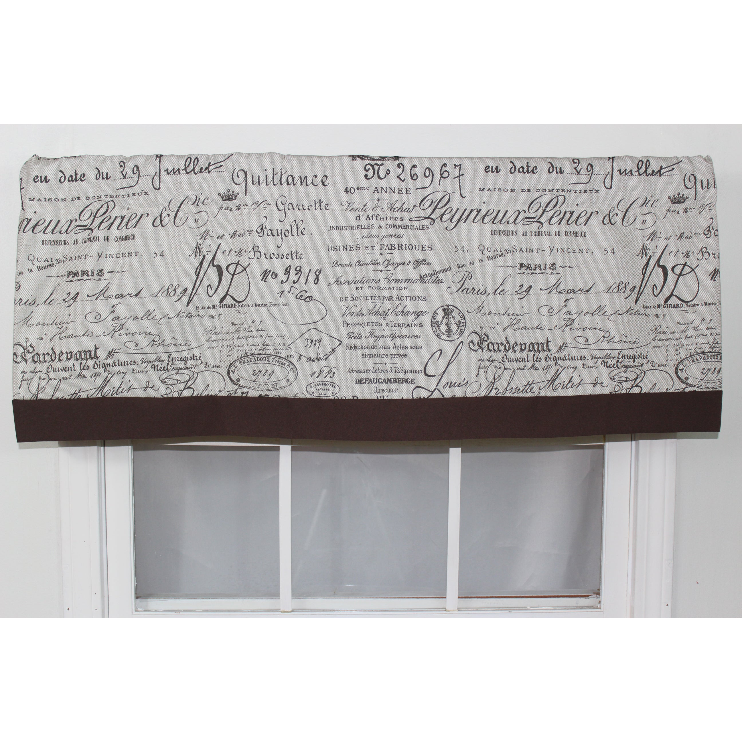 Rlf Home Document Fossil Straight Window Valance at Sears.com