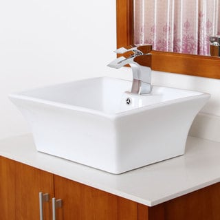 Elite Grade A Ceramic Square Design Bathroom Sink
