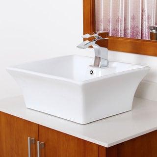 Elite Grade A Ceramic Square Design Bathroom Sink
