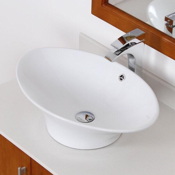 Elite Grade A Ceramic Oval Design Bathroom Sink