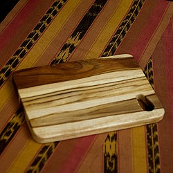 Handcrafted Teakwood 'Raindrop' Chopping Board (Guatemala)