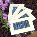 Set of 4 Cotton and Paper 'Maya Indigo' Greeting Cards (Guatemala)