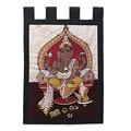 Handcrafted Cotton 'Peaceful Ganesha' Batik Wall Hanging (India)