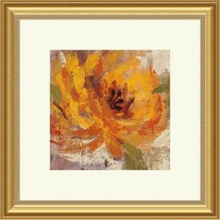 Fiery Dahlias I Contemporary Framed Print