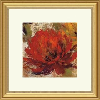 Fiery Dahlias II Contemporary Framed Print