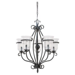 Sea Gull Lighting Manor House 5-light Weathered Iron Chandelier