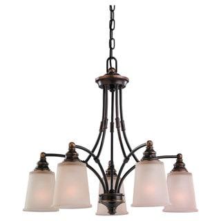 Sea Gull Lighting Warwick 5-light Vintage Bronze Chandelier