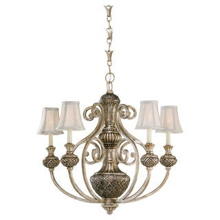 Sea Gull Lighting Highlands Five-Light 60-Watt Palladium Chandelier