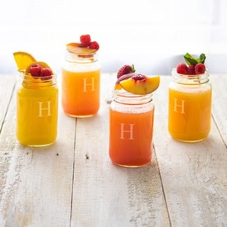Personalized 16-ounce Mason Jars (Set of 4)