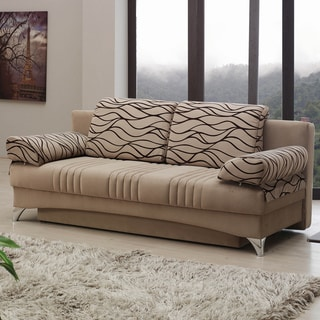 Daisy Light Brown Sleeper Sofabed