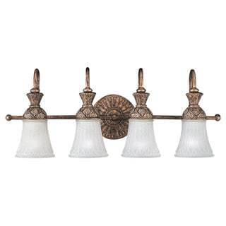 Sea Gull Lighting Bronze Four-light Bath Fixture