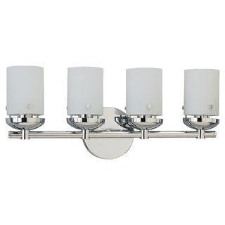 Sea Gull Lighting Four-Light Chrome Wall/ Bath Light Fixture