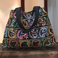 Handcrafted Polyester 'Paisley Romance' Shoulder Bag (India)