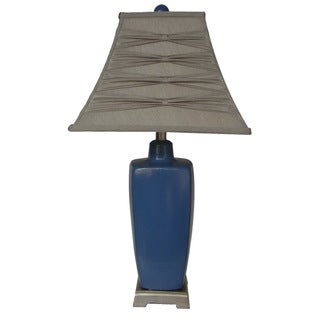Integrity 29-inch Reactive Blue Glaze Ceramic Table Lamp