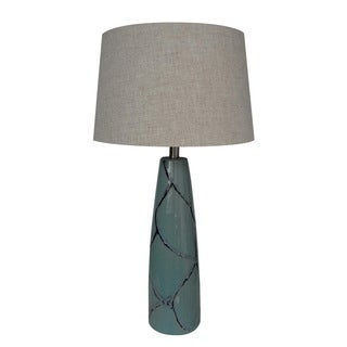 Integrity 31-inch Blue Reactive Ceramic Table Lamp
