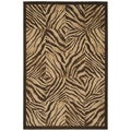 Zebra Quilt Brown Area Rug (7'10 x 10'10)