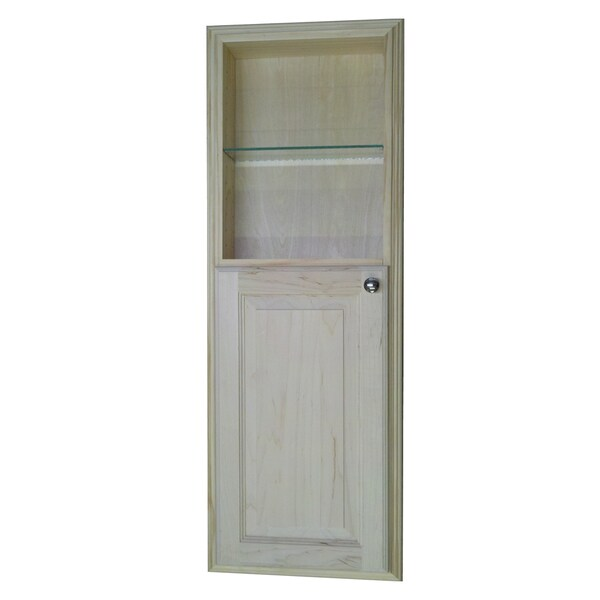 42 Inch Recessed In The Wall Baldwin Medicine Cabinet With 18 Inch Open Shelf 15243424
