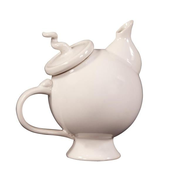 Glossy White Whimsical Teapot