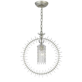 Grace 1-light Mini Chandelier in Silver Leaf
